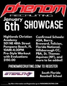 Phenom Recruiting January 6th Showcase